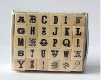 Picture of Wooden Letter Stamp Set 3 - Ransom