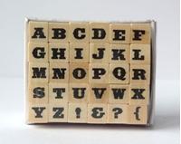 Εικόνα του Σφραγίδες Γραμματοσειρά σε Ξύλινες Βάσεις Set 7 - Circus Bold