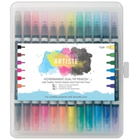 Picture of Artiste Permanent Dual Tip Pens 12/Pkg - Thick & Thin
