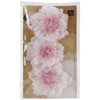 Εικόνα του Lyric Fabric Flowers 3/Pkg - Pink