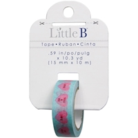 Picture of Little B Decorative Paper Tape 15mmx10m - Conversation Hearts