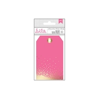 Picture of Cardstock Tags with Foil - Fushia
