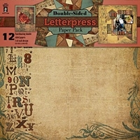Picture of Letterpress - Scrapbooking Paper Pack