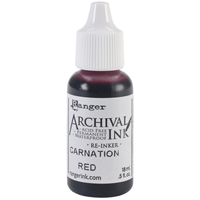 Picture of Archival Re-inker Carnation Red
