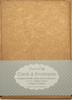 Picture of Dovecraft Cards & Envelopes: Gold Antique Metallic