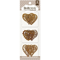 Εικόνα του BoBunny Essentials Laser - Cut Chipboard - Hearts