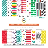 Picture of Project Life Paper Pad 15X15 - Confetti Edition
