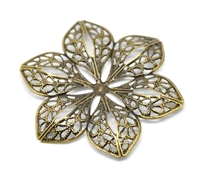 Picture of Filigree Flower Embellishments III - Bronze