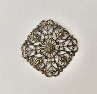 Picture of Filigree Swirl Square - Bronze