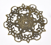 Picture of Filigree with Flower - Bronze
