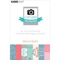 Εικόνα του Captured Moments 4x6 Cards - Hello Baby