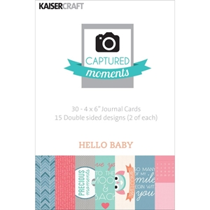 Picture of Captured Moments 4x6 Cards - Hello Baby