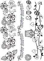 Picture of A6 Spring Border Clear Stamps