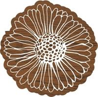 Εικόνα του Fabric Creations Block Printing Stamps - Medium Vintage Daisy