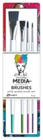 Picture of Dina Wakley Stiff Bristle Paint Brush - 4 Pack