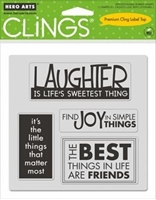 Picture of Cling on Foam Stamp Set - Things