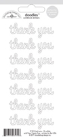 Εικόνα του Doodlebug Lily White Cardboard Stickers - Thank You