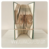 Picture of Book Folding Pattern - Love