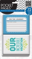 Picture of Pocket Pages Themed Cards 72/Pkg - Travel