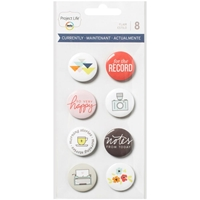 Picture of Project Life Flair Adhesive Metal Badges - Currently