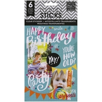 Picture of Pocket Pages Clear Stickers - Birthday