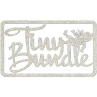 Picture of FabScraps Die-Cut Gray Chipboard Word - Tiny Bundle