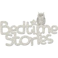 Picture of FabScraps Die-Cut Gray Chipboard Word - Bedtime Stories