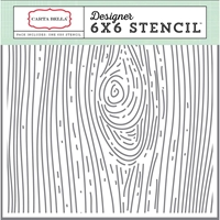 Picture of Carta Bella Stencil 15X15 - Woodgrain 2