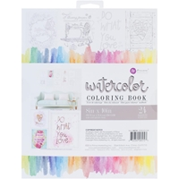 Picture of Prima Marketing Watercolor Coloring Book - Frameable Pages