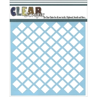 Picture of Clear Scraps Stencil - Diamonds
