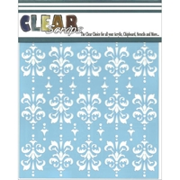 Picture of Clear Scraps Stencil - Damask