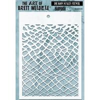 Εικόνα του Brett Weldele Stencils - Dragon Scales