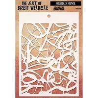 Picture of Brett Weldele Stencils - Scribbles