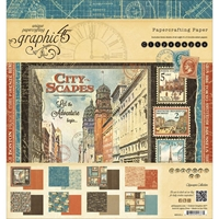 "Picture of Graphic 45 Double-Sided Paper Pad 8""X8""  - Cityscapes"