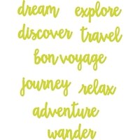 Picture of Kaisercraft Word Theme Pack Dies - Travel