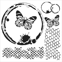 Picture of Crafter's Workshop Template 15x15 - Butterfly Collage