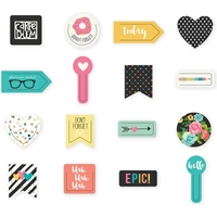 Picture of Carpe Diem Decorative Shaped Plastic Clips