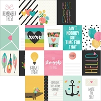 Picture of Carpe Diem Double-Sided Elements Cardstock - Journaling Cards