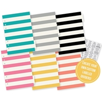 Picture of Carpe Diem A5 Basic Tabbed Dividers - Clear Label Stickers