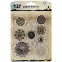 Picture of Mechanicals Metal Embellishments - Flowers Small