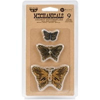 Picture of Mechanicals Metal Embellishments - Grungy Butterflies