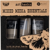 Picture of Finnabair Art Basics Mixed Media Essentials - Clear, White & Black Gesso
