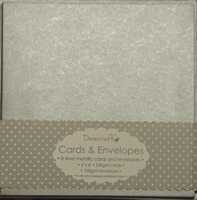 Picture of Dovecraft Cards & Envelopes: Metallic Silver 15 X 15