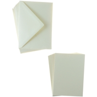 Picture of Sweet Dixie Card and Envelope Packs - Cream A6