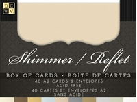 Picture of DCWV Boxed A2 Cards & Envelopes - Natural Shimmer