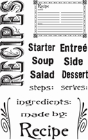 Picture of Clear Stamps - Recipes