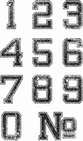 Picture of Clear Stamps - Varsity Numbers
