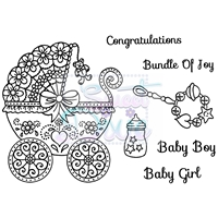 Picture of Clear Stamp Set A6 - Bundle of Joy