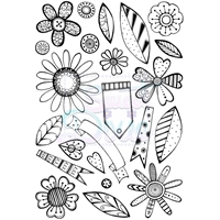 Picture of Clear Stamp Set A6 - Retro Flowers