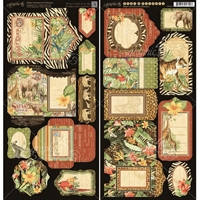 Picture of Safari Adventure Chipboard Die Cuts: Tags & Pockets